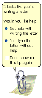 Clippy: Seems like you are writing a letter?