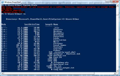 Microsoft's PowerShell console-based UI