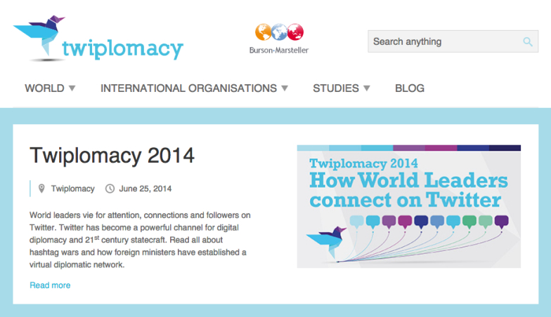 Twiplomacy web - designed by UX Passion