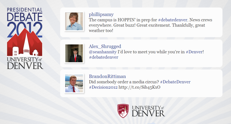 The Wall of Tweets at the University of Denver Presidential Debate