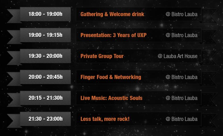 UX Apocalypse agenda by @ UX Passion