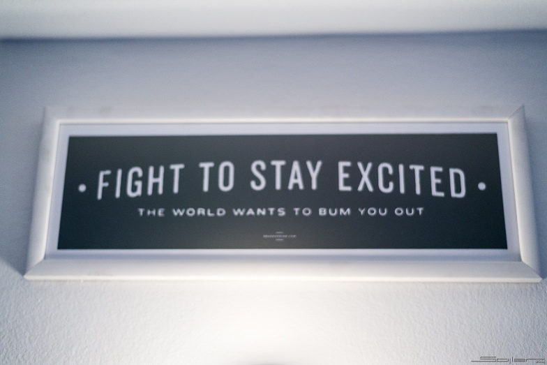 Fight to stay excited
